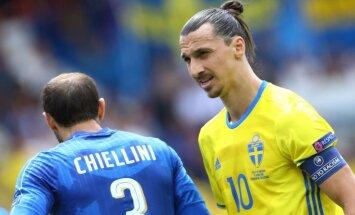 Zlatanas Ibrahimovičius ir Giorgio Chiellini