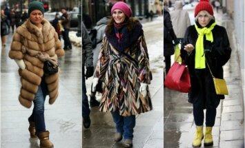 Sostinės gatvių stilius: pavasarėjant vilnietės neatsisako kailinių