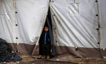 Refugee camp in Greece