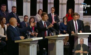 TV elections debate on LRT TV