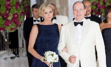 Monako princesė Charlene ir princas Albertas