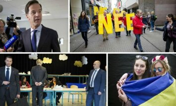 Images from the Dutch referendum on Ukraine