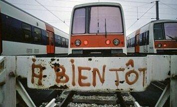 Streikas traukinių stotyje. Prancūzija
