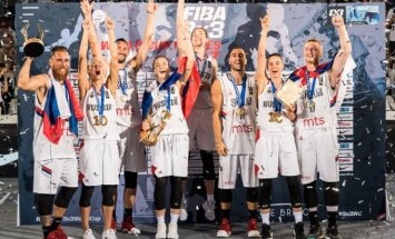 Serbijos vyrų ir Rusijos moterų trijulių krepšinio rinktinės