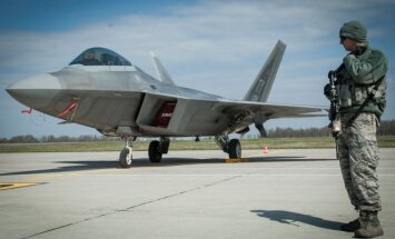 F22 Raptor at the Zuokniai air port