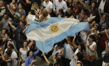 Argentinos mokytojų protestas