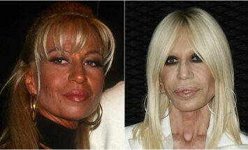 Donatella Versace 1992-aisiais ir 2015-aisiais