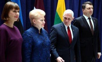 Kersti Kaljulaid, Dalia Grybauskaitė, Mike Pence, Raimonds Vejonis