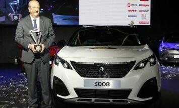 Peugeot vadovas Jeanas-Philippe'as Imparato ir nugalėtoju tapęs Peugeot 3008
