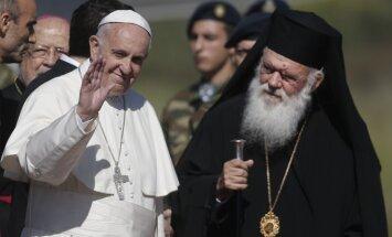 Popiežius Pranciškus ir Graikijos arkivyskupas Jeronimas