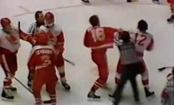 Kanados ir Sovietų jaunimo ledo ritulio rinktinių muštynės