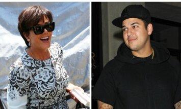 Kris Jenner ir Robas Kardashianas