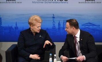 Presidents Dalia Grybauskaitė and Andrzej Duda at the MSC