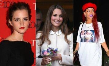 Emma Watson, Kate Middleton ir Rihanna