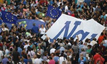 ES rėmėjų protestas Graikijoje