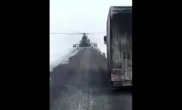 Negalėjo patikėti savo akimis: tokios kliūties sunkvežimių vairuotojai nesitikėjo
