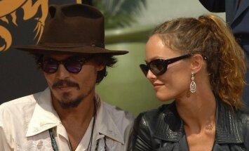 Johnny Deppas ir Vanessa Paradis