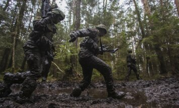 Military drill in Rukla