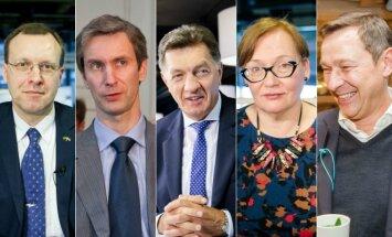 N.Puteikis, A.Paleckis, A.Butkevičius, A.Maldeikienė, A.Zuokas
