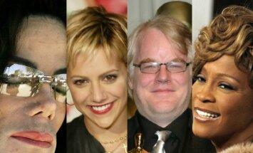Michaelas Jacksonas, Brittany Murphy, Philipas Seymouras Hoffmanas, Whitney Houston