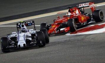 Felipe Massa ir Sebastianas Vettelis