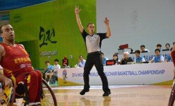Vežimėlių krepšinio teisėjas Linas Radykas
