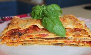 Lazanija su baklažanais ir pomidorais