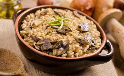 Ryžiai – itališki, grybai – lietuviški: visame pasaulyje išpopuliarėjusio rizoto legenda