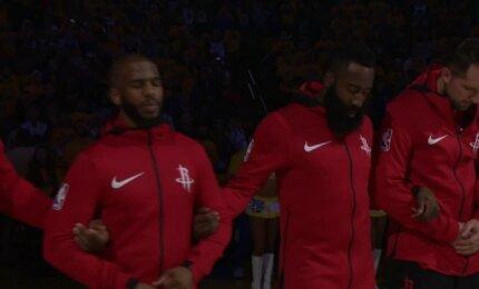 "Gražiausias konferencijos finalų mūšis: ketvirta ""Warriors"" ir ""Rockets"" dvikova"
