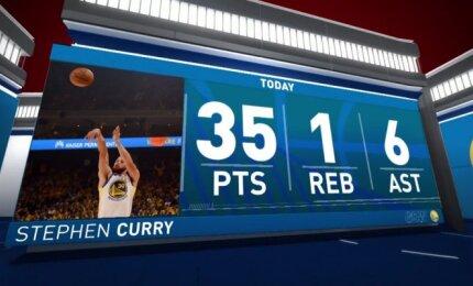 Geriausias Curry pasirodymas šių metų atkrintamosiose varžybose