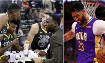 """""""Warriors"""" nuobodulį vijo trenerio kėdę užleisdami žaidėjams, Davisas vėl siautėjo Detroite"""