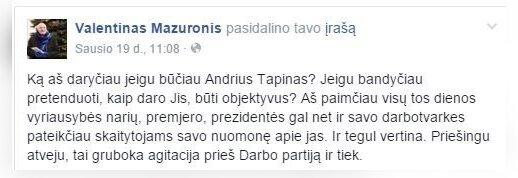 A. Tapinas. Kiek ilgai taip ars ministrai ir kas vyks Zypliuose, liks Zypliuose