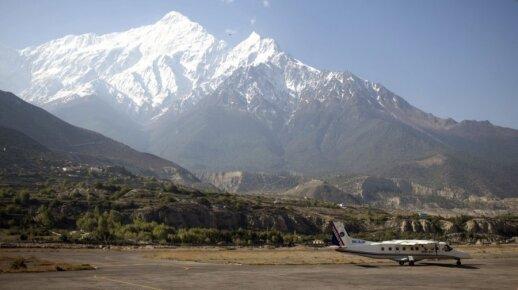 Jomsom oro uostas Šiaurės Nepale