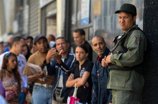 Eilės prie banko Karakase