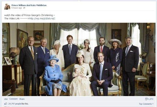Oficiali princo George'o krikštynų nuotrauka