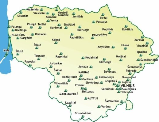 Kabelinės televizijos paplitimas Lietuvoje (Lietuvos kabelinės televizijos asociacijos iliustr.)