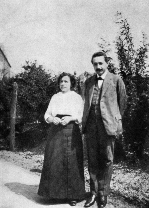 Albertas Einšteinas su žmona Mileva