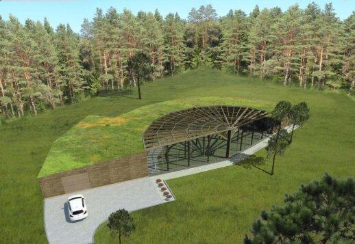Moderni architektūra, susiliejanti su gamta