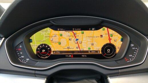 """Virtualus """"Audi Q5"""" prietaisų skydelis"""