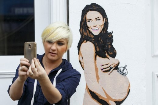 Kate Middleton graffiti