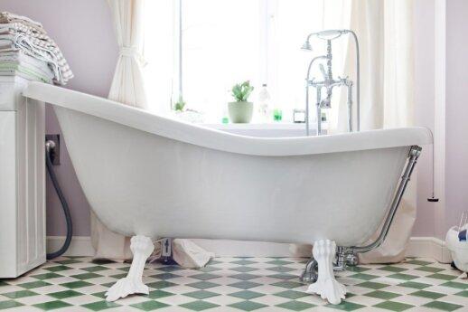 Kaip įsirengti vintažinį vonios kambarį