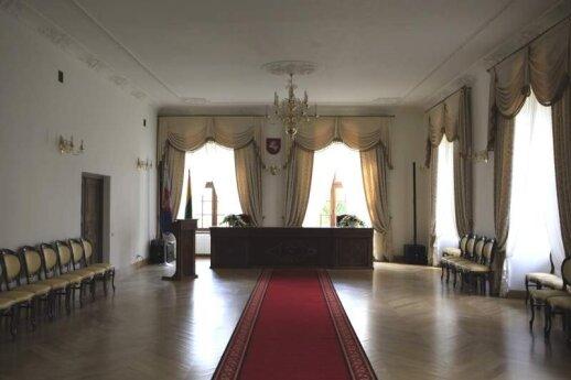 Didžioji rūmų salė, kurioje rengiamos santuokos ceremonijos. V. Kandroto nuotr.
