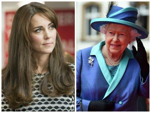 Kate Middleton ir karalienė Elizabeth