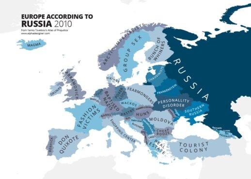 Stereotipai: Europa pagal rusus // Alphadesigner nuotr.