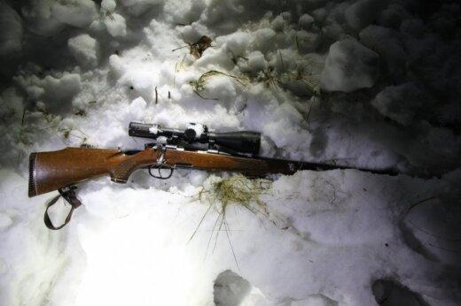 Konfiskuotas brakonierių šautuvas