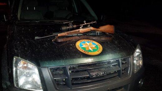 Konfiskuotas brakonieriaus šautuvas