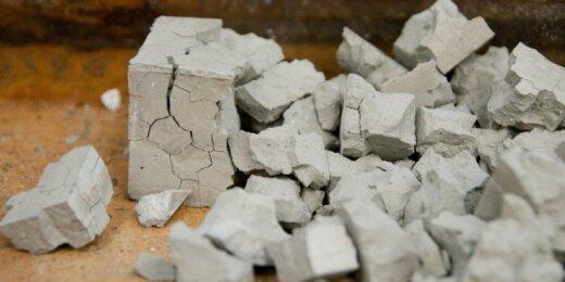 KTU betono bandinys po gniuždymo