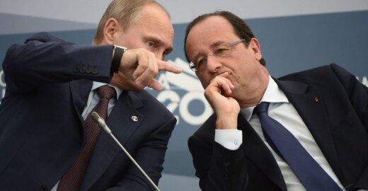 Vladimiras Putinas ir Francois Hollande'as