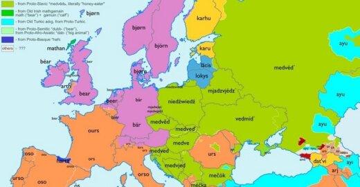Europos kalbų etimologinis žemėlapis