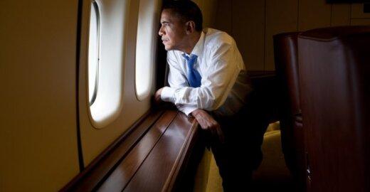 B. Obama atvyko į Briuselį